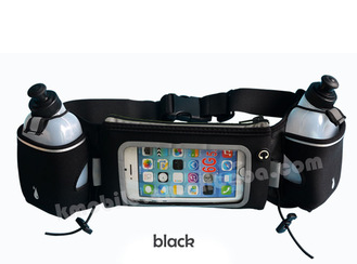 Waist Running Belt for Iphone 6 Plus Hydration Running Belt with 2 BPA Free Water Bottles