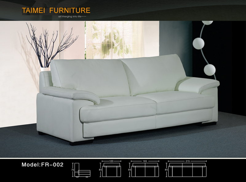 Living Room Sofa with Modern Genuine Leather Sofa (1+2+3)
