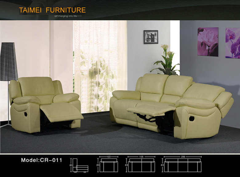 Best Selling Leather Reclining Sofa (recliner)