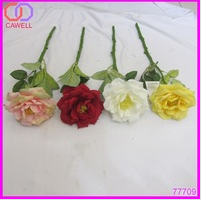 cheap wholesale hot sale 4 colors available real looking artificial chinese rose flower
