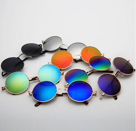 Metal Round Circle Sunglasses with UV function