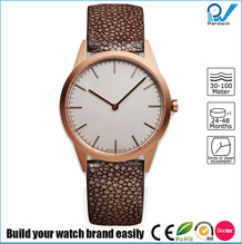 PVD Rosegold stainless steel case sapphire lense waterproof 5ATM super slim 5.5mm thickness case women watch