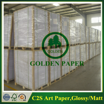 Glossy coated art paper,c2s art paper from factory