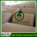 58gsm 60gsm 64gsm 68gsm 70gsm Light weight coated paper/LWC paper in roll and sheet