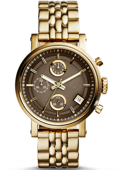 High quality stainless steel 316L sapphire crystal lens gold watch