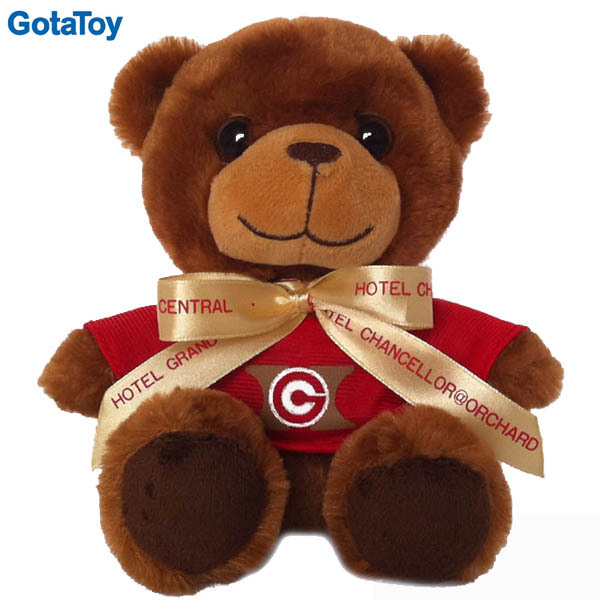 Factory custom stuffed bear soft teddy bear plush teddy bear with t-shirt