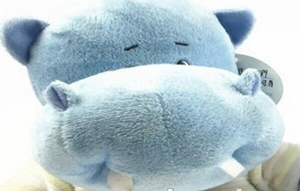2017 blue christmas hippo plush soft toy