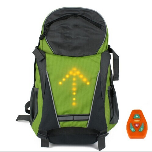 Luminous Safety Warning Direction Pink Cycling Hiking Backpack
