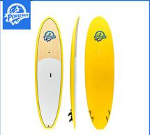 hot selling Bamboo Veneer On Top Stand Up Paddle Board SUP