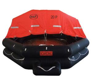 solas marine throw overboard inflatable life raft
