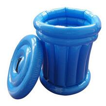 PVC Inflatable Blue Ice Can With Lid
