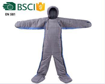 Human body shape sleeping bag