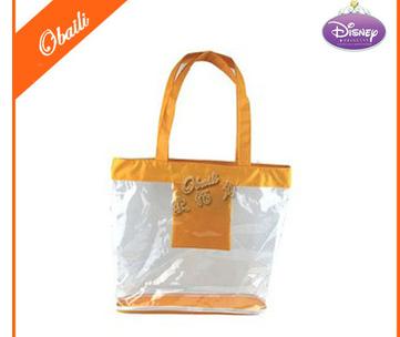 Plastic Clear PVC Zipper Tote Bags/Clear PVC Shopping Bag