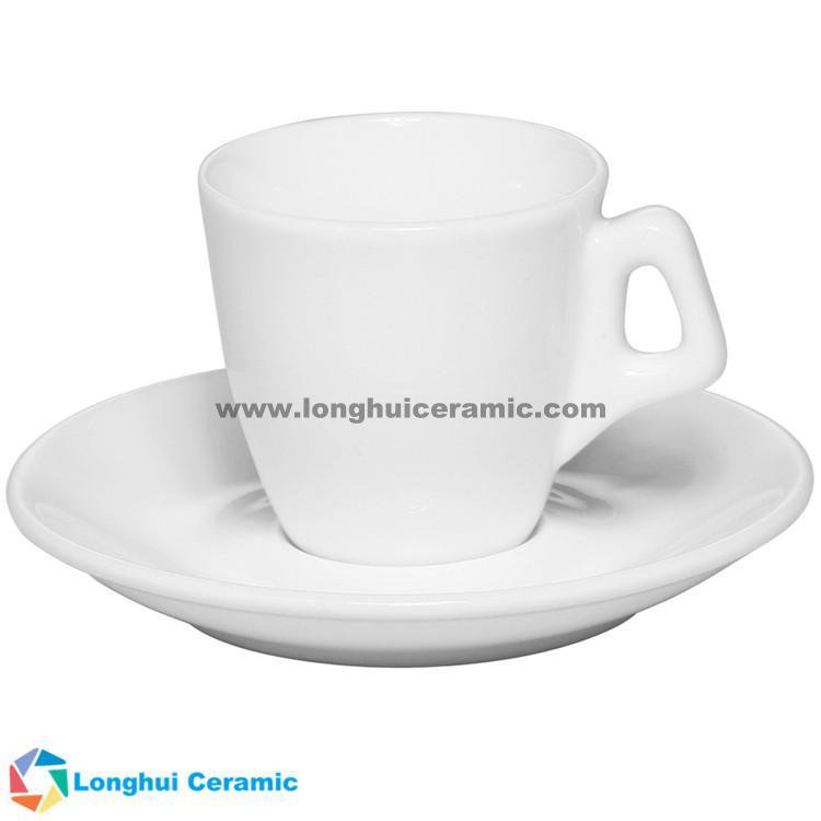 2.5oz Personalized white porcelain Espresso cup&saucer