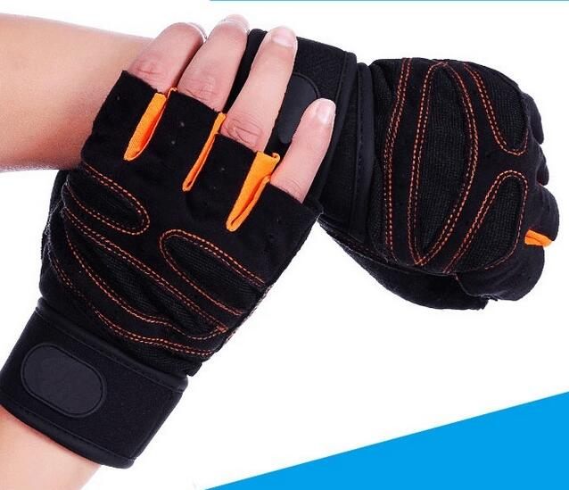Half finger gym fitness wrister weightlifting gloves sports cycling gloves for men