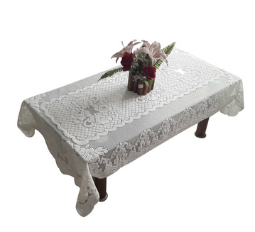 2016 Hot sale polyester embroidered flower design table cloth making machine