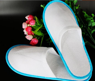 wholesale cheap custom logo brand regular size unisex disposable hotel slipper