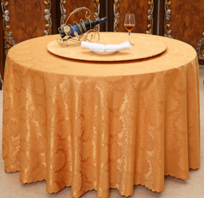 Banquet made in China embroidered Plain tablecloth flower designs
