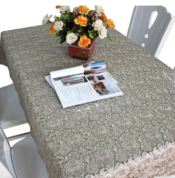 Hot sale fancy white lace table cloth,Table Protector