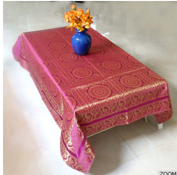 hot sale high quality India silk table cloth