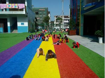 Colorful Artificial Grass / High Quality Grass for Kindergarden
