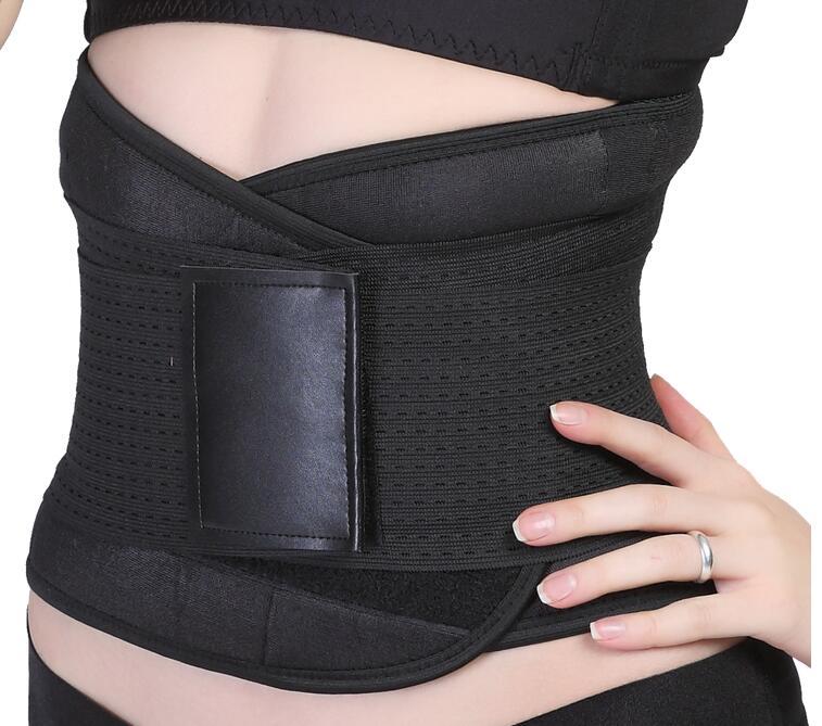 Fitness neoprene waist trimmer belt back brace slimming lumbar support