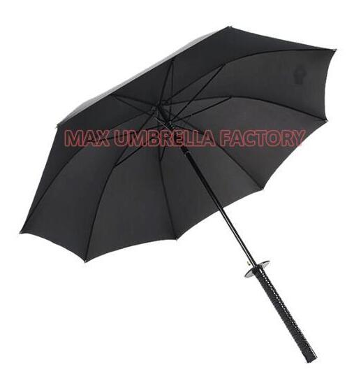 Wholesale Novel 210T Polyester Big Size Japanese Samurai Sword Umbrella