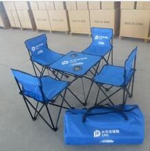 Foldable folding camping chair and table set,with carry bag for outdoor