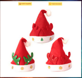 New arrival hot sale cheap santa hat plush christmas hat