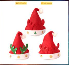 New arrival hot sale cheap santa hat plush christmas hat