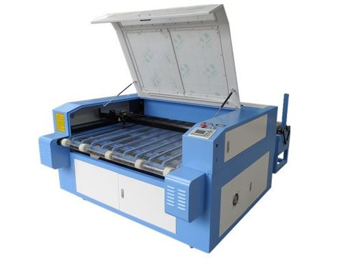 hot sale acrylic/leather Auto feeding co2 laser cutting engraving machine
