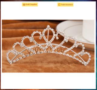 Fashion headwear party crystal crown cheap princess crown