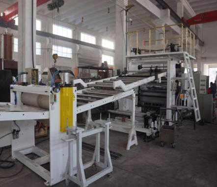 Solid PVC imitation marble sheet/plate production line