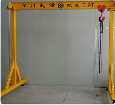 Customized Protable 0.9t Mini Single Girder Gantry Crane with 4 Wheel