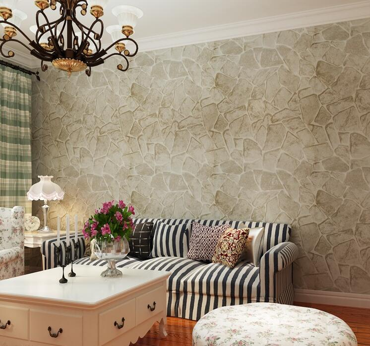 Nature rustic style vinyl marble wallpaper for Papel pintado grueso