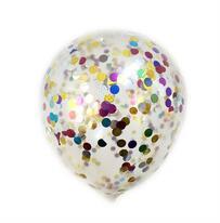 cheap beautiful clear transparent conffetti balloons