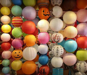Cheap Colorful Hanging Chinese Paper Lanterns For Weddings