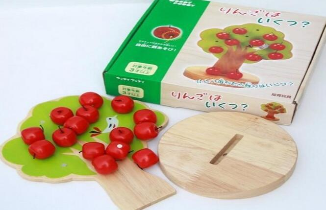 Bead Toy High Quality Wood Apple Tree Wood Beads Toys For Children