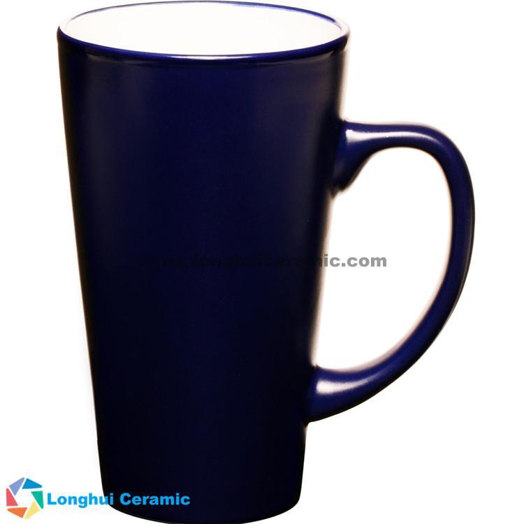 16oz Personalized tall ceramic Latte mug