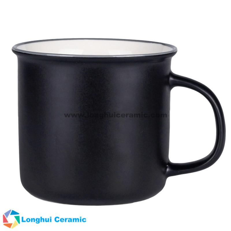 13oz Personalized flared top bicolor ceramic coffee cup