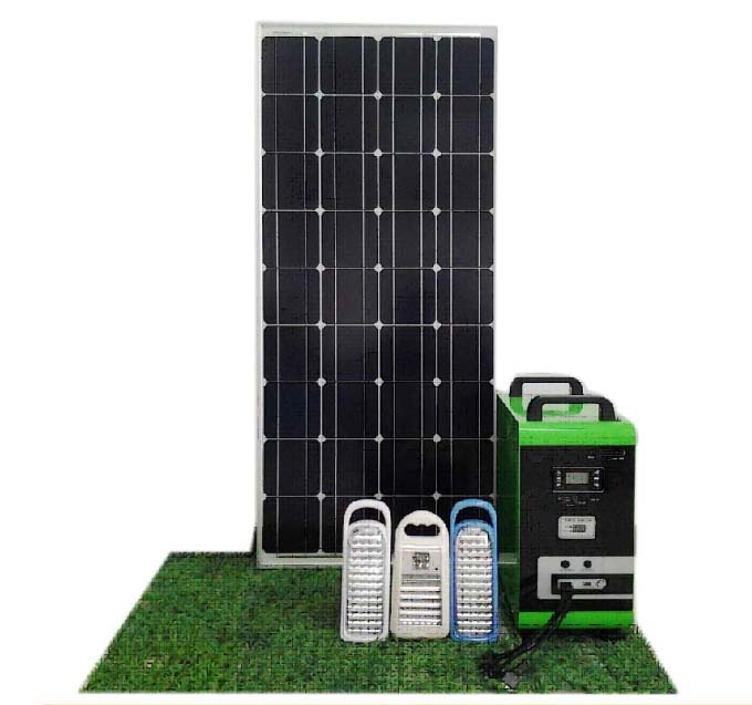 Stand Alone Home Solar System Kit 150W