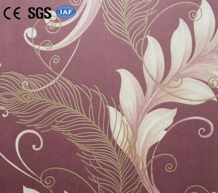 Flower Non-woven Bedroom Wallpaper