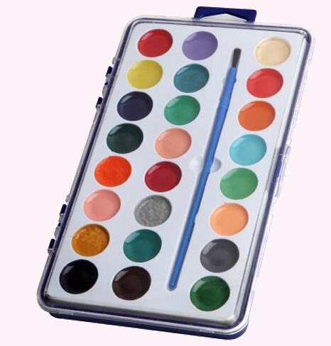 square semi moist water color