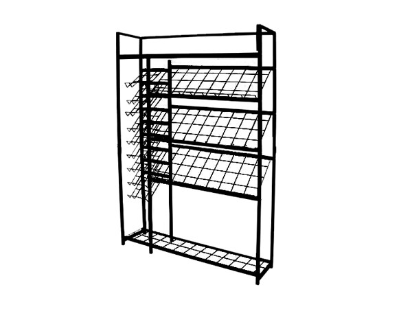 Powder Coated High Quality Metal Supermarket Display Shelf