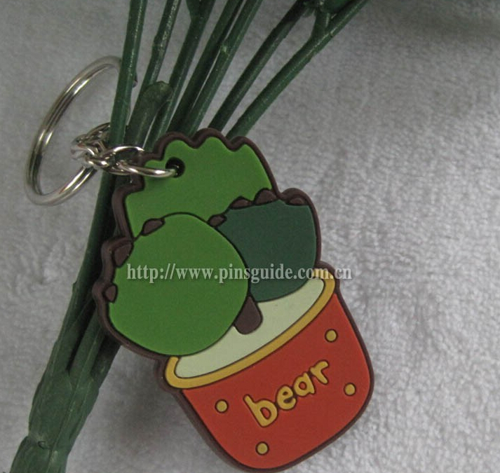 3d soft pvc custom rubber keychain for promotional gifts