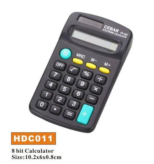 8 Digit mini pocket size calculator