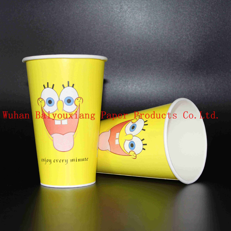 Customized Logo 14oz Disposable ripple wall Drinking Cups