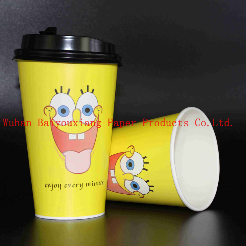 Customized Logo 22oz Disposable ripple wall Drinking Cups