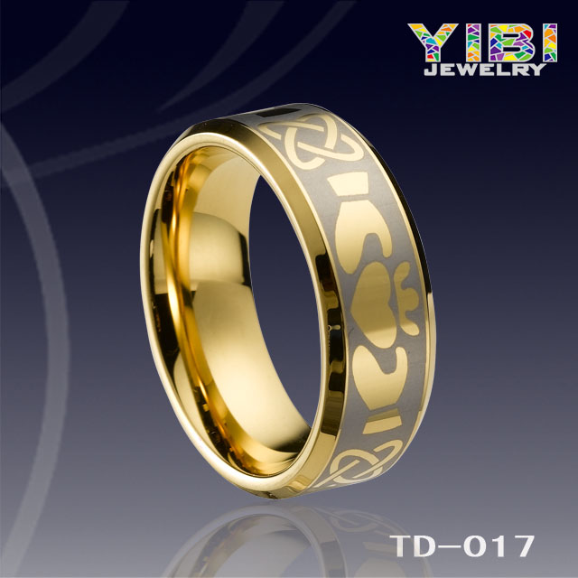 Fashion jewelry,Tungsten Ring, Wedding Rings, Tungsten Jewelry,Fashion Ring, the best seller,gold tungsten Michael Jakeson ring