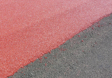 Roadphalt colored cold mix asphalt concrete surface layer of the system